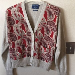 Ralph Lauren silk cardigan sweater large